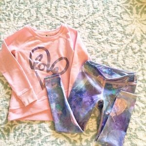 Active Life Long Sleeved Active Top with Leggings